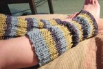 Here is an example of a pair of legwarmers. Reminder, if I wore these they would hit just above my knees....very sexy